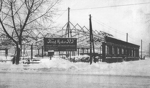 A Ford Motor Rt. székházának építkezése 1939-ben