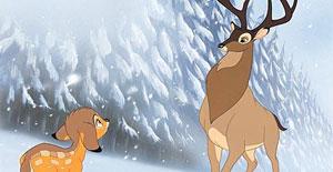 A tévedések elkerülése végett a filmes Bambi szarvas volt, illetve a papa az biztos