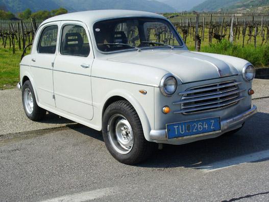 Fiat 1100 Abarth, huncut gumikon