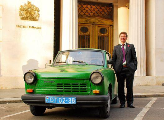 Talán az egyetlen Trabant, amit a világon diplomáciai célra használnak