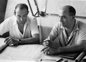 Balra Gioacchino Colombo, jobbra Aurelio Lampredi