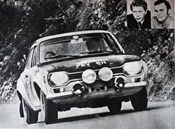 Éles versenyben az Escort egy korabeli fotón