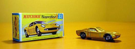 Matchbox gyártmányú Lamborghini Miura