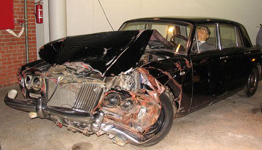 Brezsnyev 1980-ban zúzta össze ezt a Rolls-Royce Silver Shadow-t