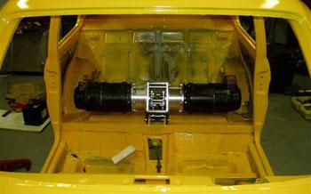 A motor és az erőátvitel a helyén