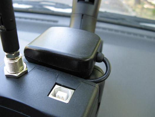 A kis lapos a GPS-vevő