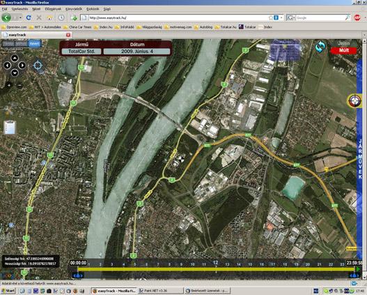 A híd már rajta van a műholdképen, de a térkép még nem ismeri