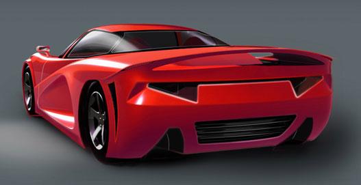 Lightning Car Company, a sporthibrid-gyártó. Ez csak egy rajz, de lehet, hogy lesz valódi autója is