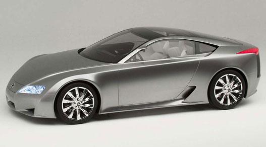 Lexus LF-A, a Porsche-evő. Eleinte V10-es benzinessel lesz, de később jön bele a V8-assal támogatott villanymotor is