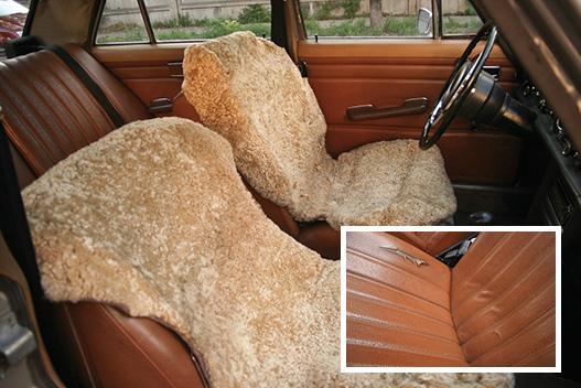 Nem biztos, hogy 2008-ban a medvehéj a legdivatosabb üléshuzat, de még mindig sokkal kellemesebb látvány, mint a hasadt műbőr