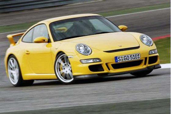 Porsche 911 GT3 - sport gomb benyomva
