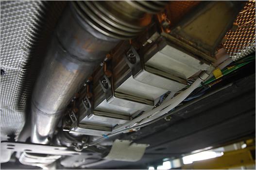 Termoelektromos generátor egy kísérleti BMW-ben