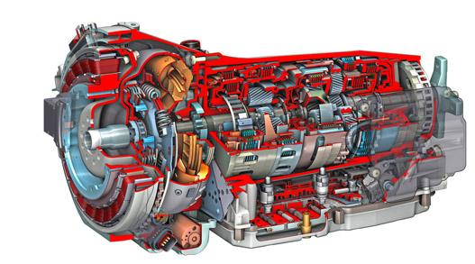 A villanymotor egy tradicionális, hétfokozatú automatához kapcsolódik