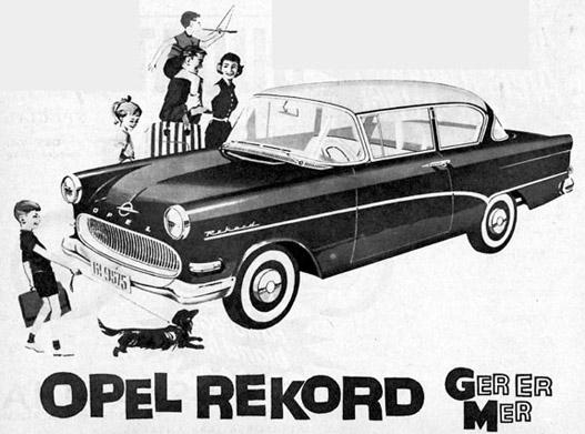 Ez már az utód Opel Rekord 1958-tól