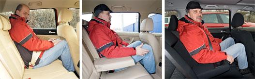 Ahol nem lehet elférni (Alfa), ahol kényelmesen el lehet (BMW), és ahol félig-meddig (Honda)