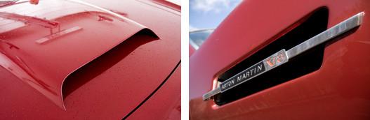 A jókötésű vakablak és a felírat: V8