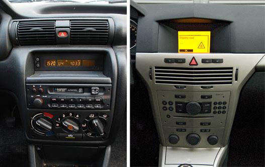 Ez egy jó része volt a régi Astrának, mármint a kis polc, meg a külön rádiókijelző. Az újban minikijelző maxi lyukkal