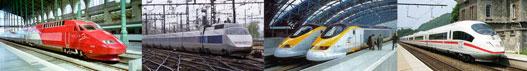 Thalys - TGV- Eurostar - ICE