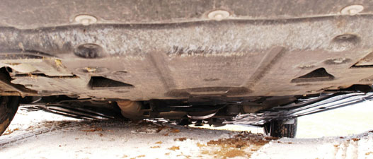 Felárért rendelhető légrugózás, amivel ilyenkor még 3,5 cm-t lehet emelni az autón