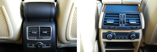 Hátsó klíma a BMW-ben és az Audiban