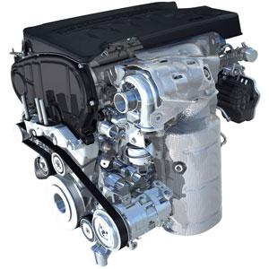 A nagy hordó a motor oldalán a katalizátor + koromszűrő