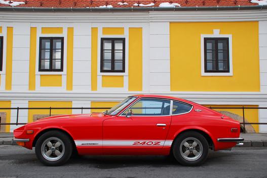 Tisztára Jaguar E-Type a sziluett