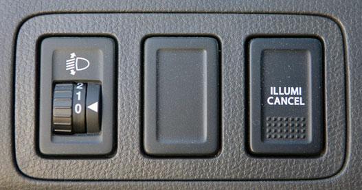 Az Illumi Cancel, a műszerfal-világítás tompítója máig a legviccesebb feliratú gomb az autóiparban