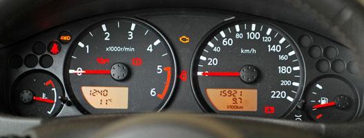A 220 optikai tuning: a legnagyobb sebesség 170 km/h, a megngedett 80 km/h