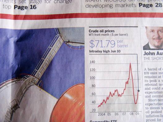 Így áll az olajár a Financial Timesban: a szakadék a válság kezdetét jelzi