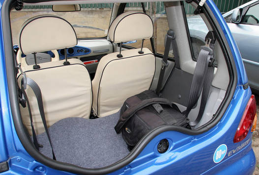 Lehajtott hátsó üléssel használható méretű csomagteret kapunk
