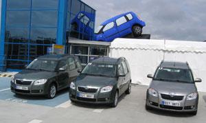 A prágai reptér parkolójának teteje