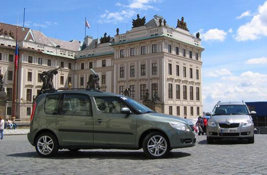 A prágai vár előtt