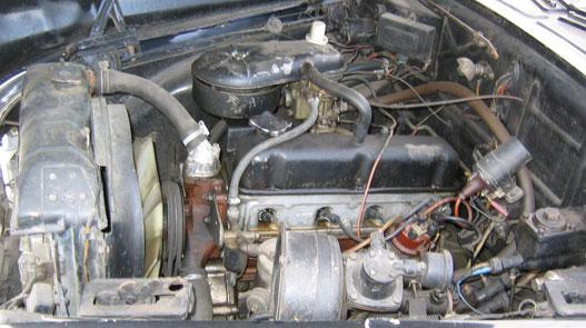 Volga M24 motor, magas pozícióban