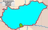 Magyarország optimális vízrajzi térképe.