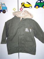 3e105e3024 Miki egeres tavaszi/őszi kabát 92-es keveset használt kizippzározható pamut  bélés ujja: 92