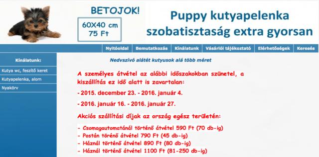 http://kutyapelenka.boltaneten.hu