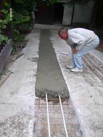 Kocsibejáró betonozás