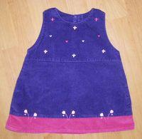 db1a03d636 Eladó ez a kis Adams ruhácska 6-9 hó , lila plüssbársony anyagból, 490 Ft
