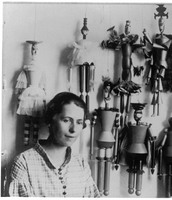 Sophie Taeuber with her puppets, 1918 Zurich
