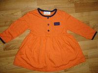 14bfedb77e Narancssárga hosszúujjú kisruha 74- 80-as: 800 Ft+ pk