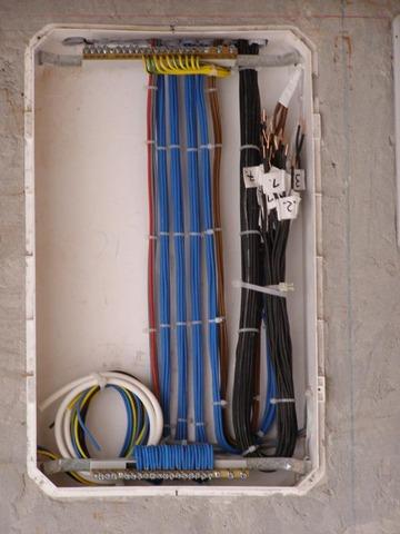 Villanyszerelés kábel behúzás