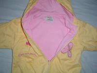 3. Átmeneti kabát puha rózsaszín pamut béléssel Nagyon csajos fodros az  alja és az ujja. 86-os 2000 Ft d9aed1b3fc