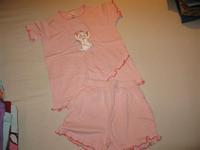 6ef98ee0ce Palomino új, csak kimosott rózsaszín pöttyös cicás nyári pizsama. 128-as  méret. Felső hossza 48 cm, szélessége 37 cm. Nadrág derék23-40, hossza 28  cm.