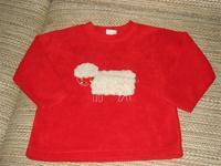 2d8b5d5371 KILLY szép piros báránykás polár pulcsi, 110-es méret.