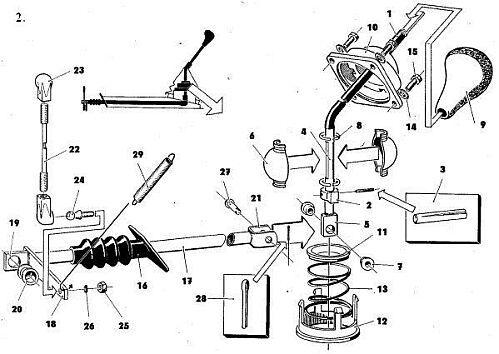 Trabant karburátor robbantott rajz