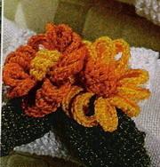 Horgolt virágocska