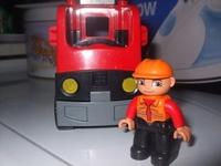 Lego Duplo narancsszínű kamion + 1 emberke - 1700 9f99546bb2