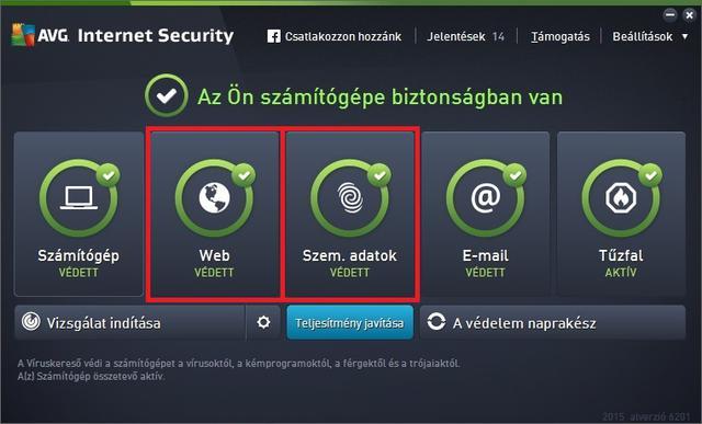 c271efd4b6 Itt ugyan ott látom Web-Védelmet (Web Protection), de miért nem a főmenüs  kezelőfelületre tették fel, mint a többi fontos összetevőt? (Na, jó, ez még  elmegy ...