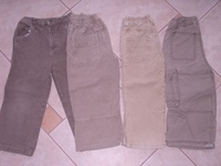 414f42ce04 3 kord +1 vászon nadrág, mind 3-4 éves méret - 1300 Ft