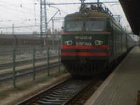 Egy VL11M villanymozdony Csop-Lvov között.